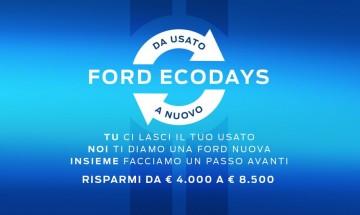Tornano i Ford EcoDays. E' il momento migliore per metterti al volante di una Nuova Ford. Scopri l'offerta a te dedicata