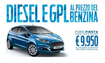 Ford Fiesta TDCI e GPL allo stesso prezzo del Benzina! Solo a Maggio con IdeaFord